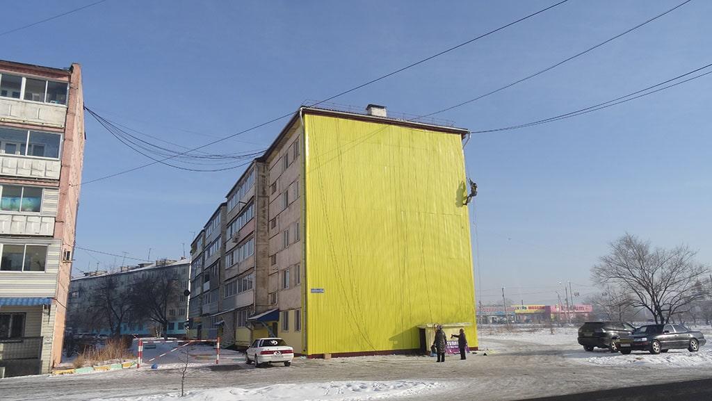 Утепление торца дома п. Сибирцево