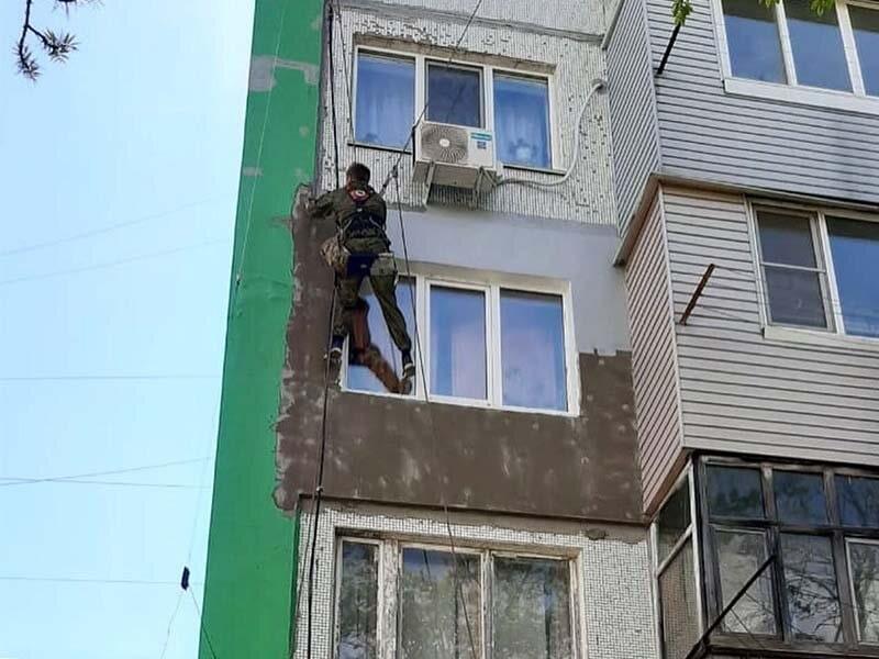 Утепление стен вокруг одного окна Новожилова 33